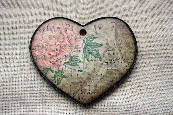Поделки для <i>декупаж на сердечке из дерева</i> интерьера Для украшения интерьера Красивые